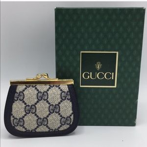 Authentic Vintage Gucci monogram coin purse NWOT
